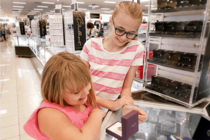 Picking out a Mother's Day gift at Kohl's