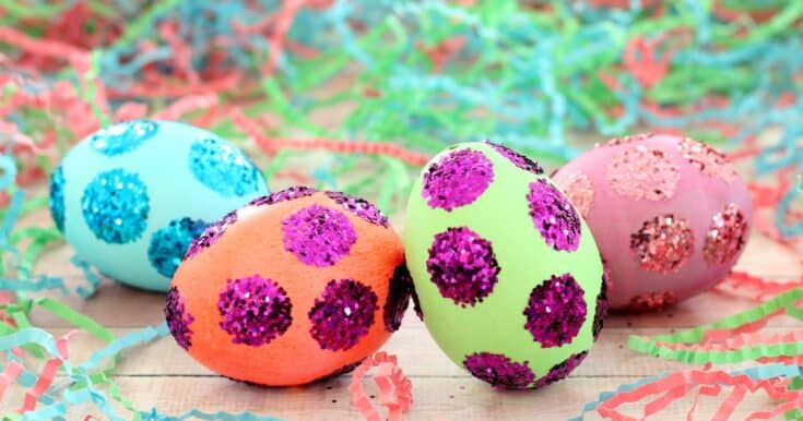 Easy Polka Dot Easter Eggs