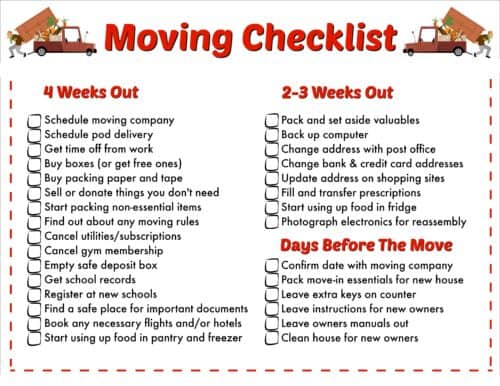 image about Printable Moving Checklist identify The Should really-Incorporate Printable Shifting List Entertaining Monetary Mother