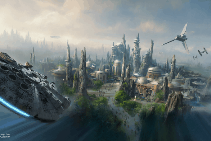 Artists rendering of Star Wars: Galaxy's Edge