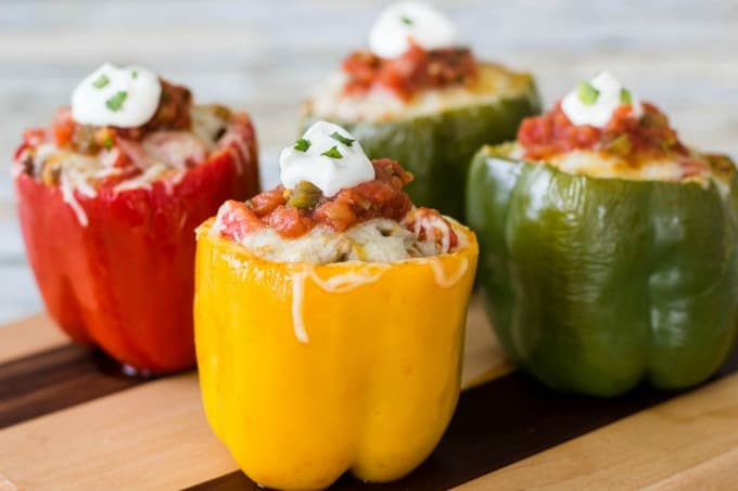Stuffed peppers with no chips