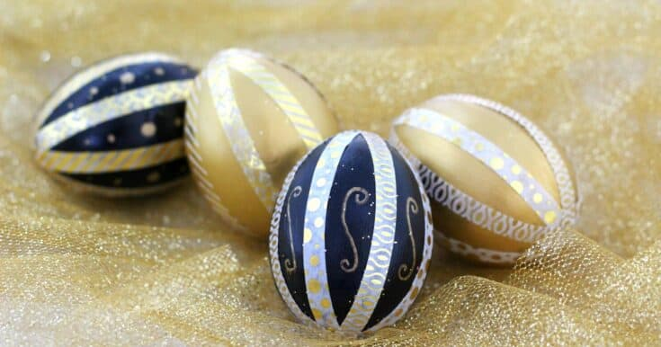 Easy Washi Tape Eggs For Easter
