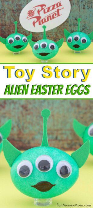 Alien Easter Eggs Pin