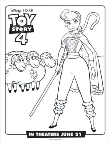 Bo Peep From Toy Story Coloring Page