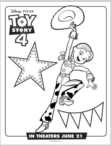 Jessie From From Toy Story Coloring Page