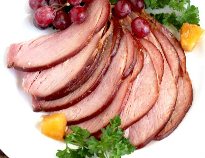 Slow Cooker Ham with Brown Sugar Pineapple Glaze