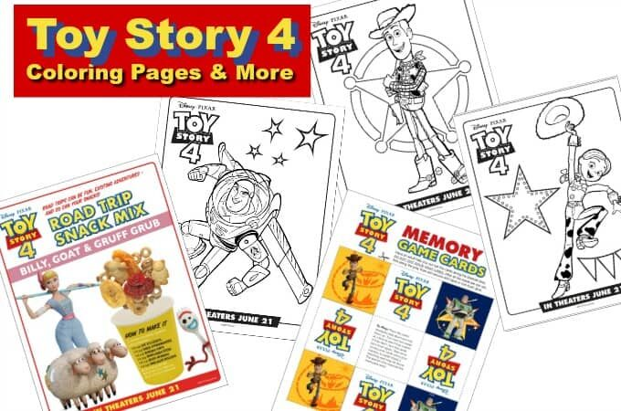 Toy Story 4 Coloring Pages