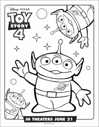 Aliens From Toy Story Coloring Page