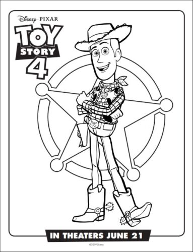 Woody From Toy Story Coloring Page