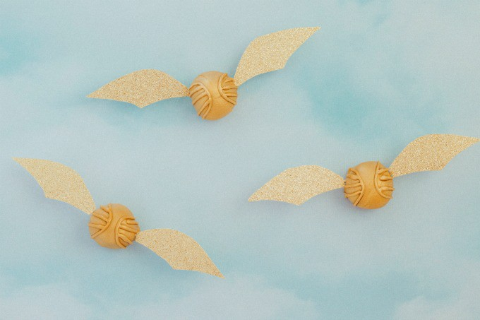 Harry Potter Golden Snitch Peanut Butter Balls