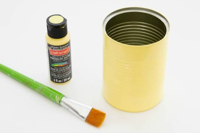 Soup can painted yellow