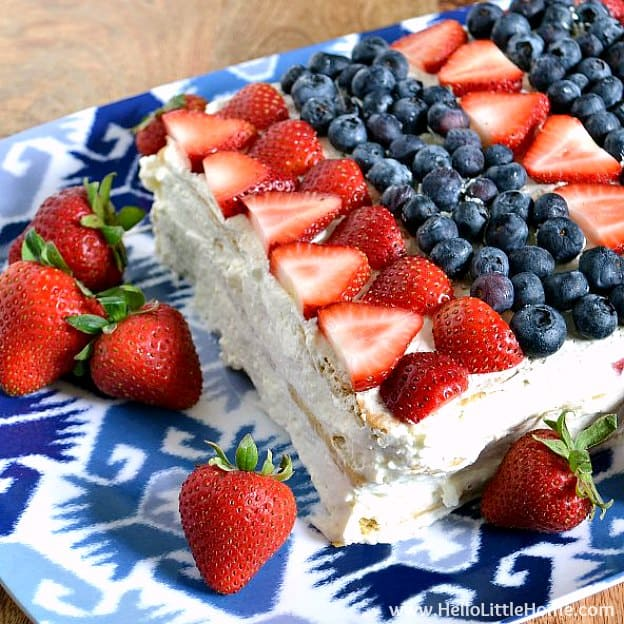 Red, White, and Blue Icebox Cake