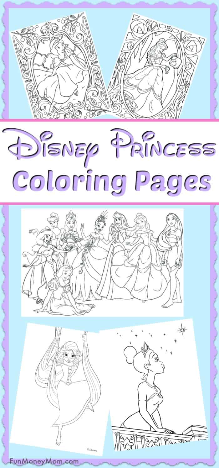 Disney Princess Coloring Page Disney Princesses Coloring Pages Princess  Free Thanhhoacar - birijus.com | 1493x700