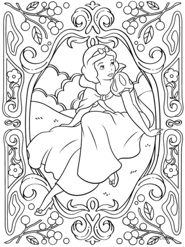 Disney Princess Coloring Page