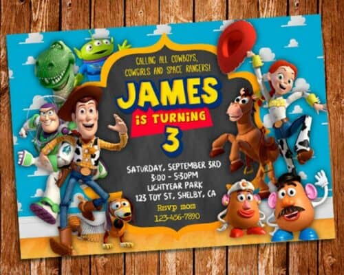 Toy Story Invitations 1