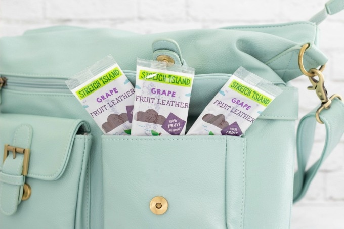 Stretch Island Fruit Leather Snacks in purse