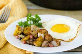 breakfast potatoes on plate