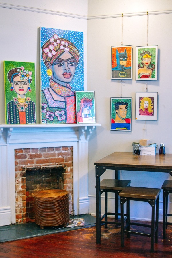 Artwork at the Mockingbird Cafe