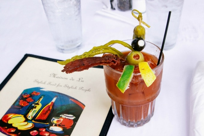 Bloody Mary at Maison De Lu