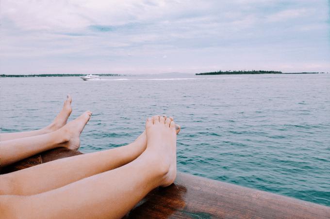 Feet on boat