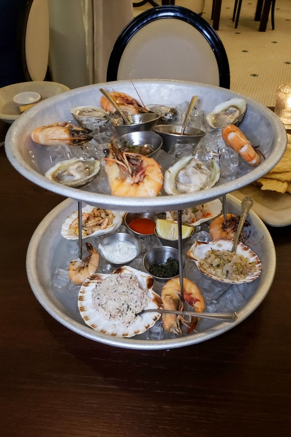 Seafood Tower at White Pillars restaurant