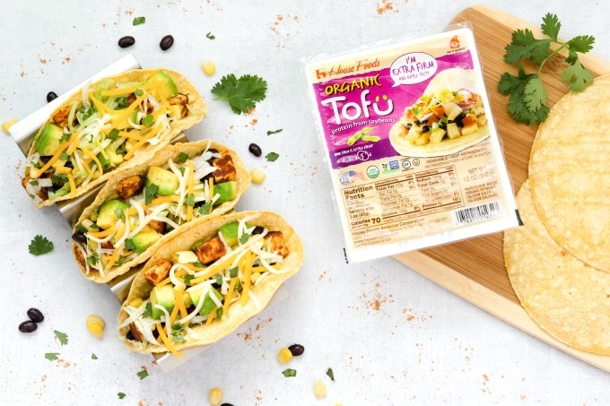 Tofu Tacos from above