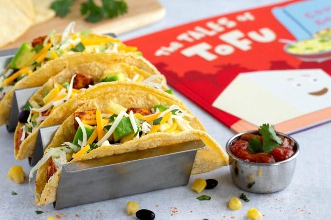 Tofu Tacos with book