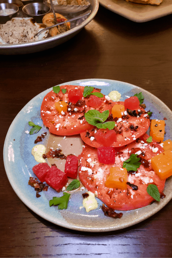 Tomatoes at White Pillars Restaurant