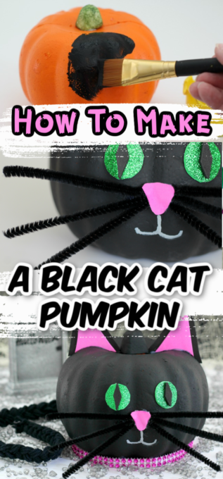 Black cat pumpkin pin 1