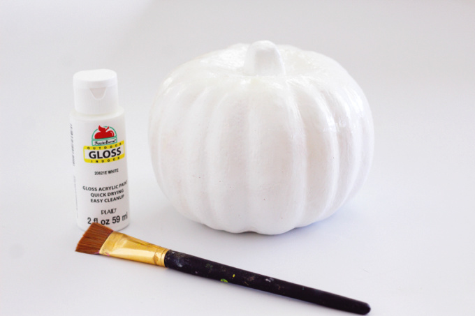 White pumpkin for unicorn craft