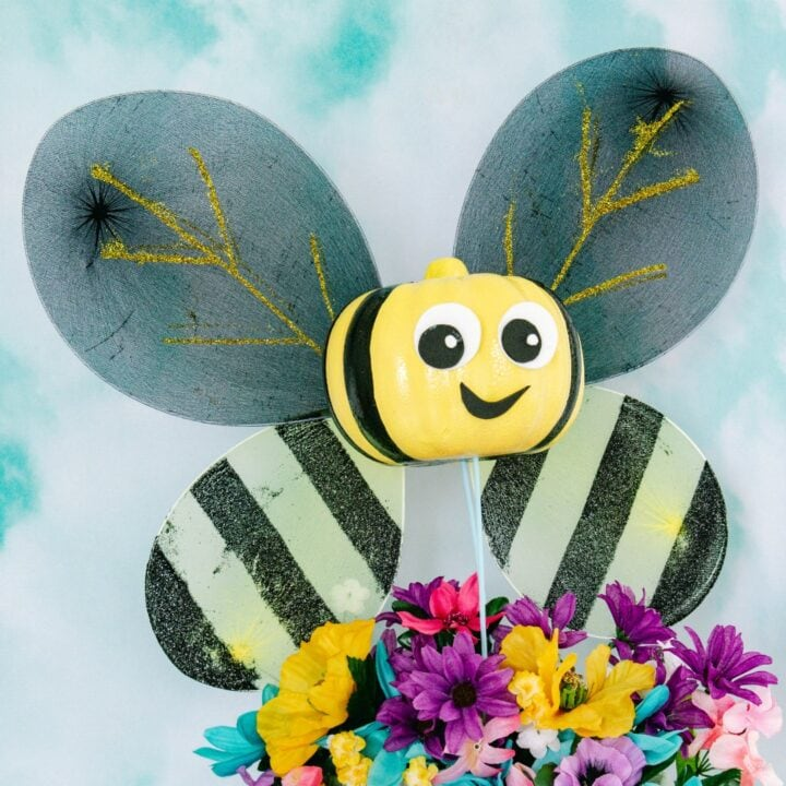 Bumblebee pumpkin square