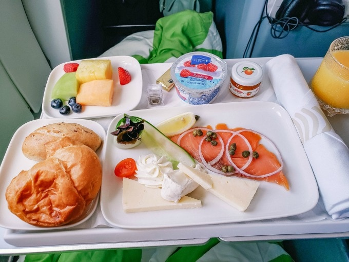 Finnair business class breakfast 2