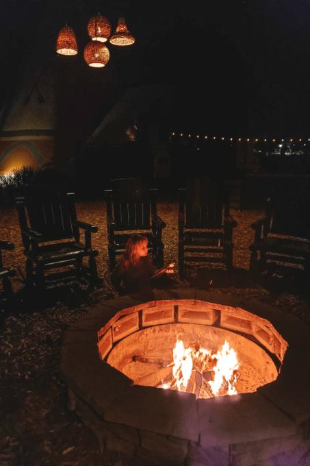 Keira roasting marshmallows