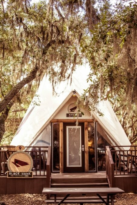 Luxe teepee at Westgate River Ranch