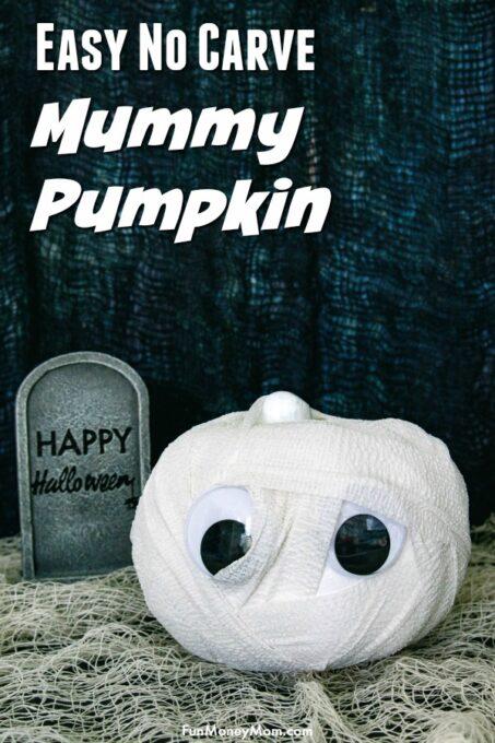 Mummy Pumpkin Pin