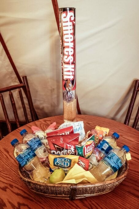 S'mores kit and snacks