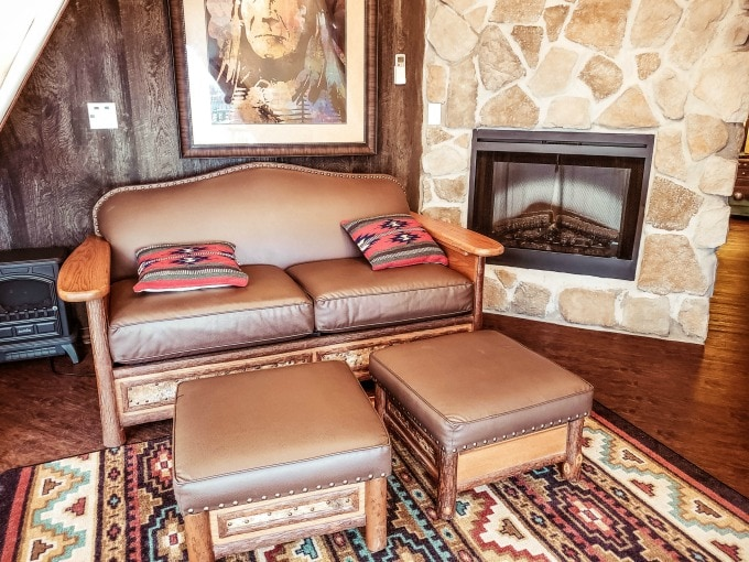Sofa in the Westgate River Ranch teepee