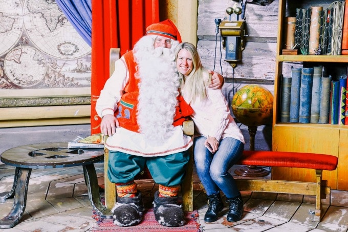 One of the most family friendly things to do in Rovaniemi is to hang out with Santa