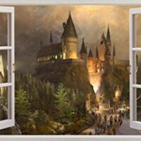 Harry Potter 3D Window View Wall Sticker