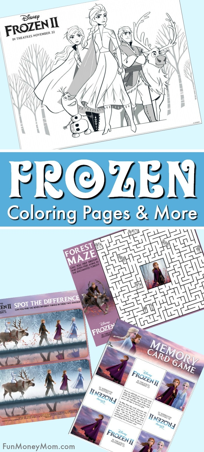 Frozen coloring pages pin