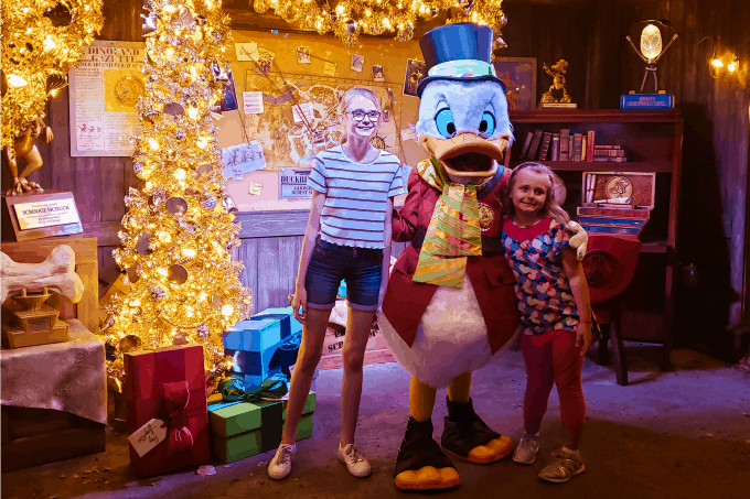 Meeting Scrooge McDuck in Animal Kingdom