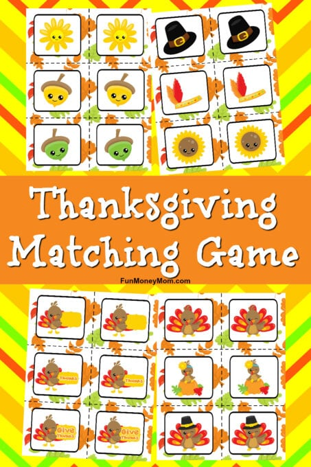 Thanksgiving Matching Game