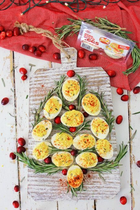 Easy deviled eggs with Great Day Farms package