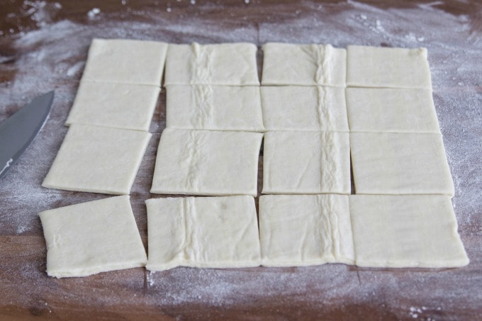 Cut puff pastry sheets