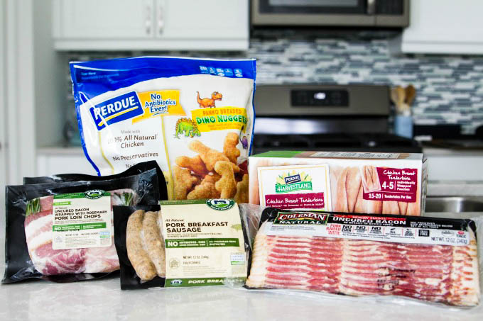 Perdue Farms products on counter