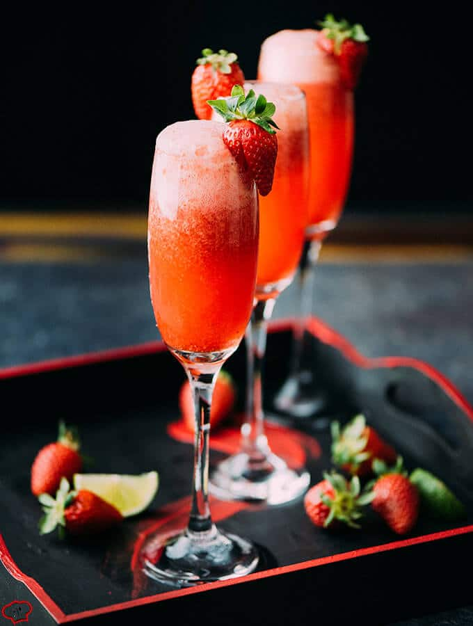Lime Strawberry Champagne