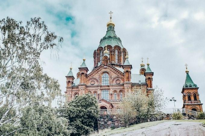 Upenski Cathedral in Helsinki Finland