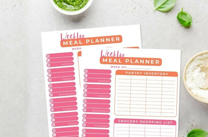 Weekly Meal Planner feature