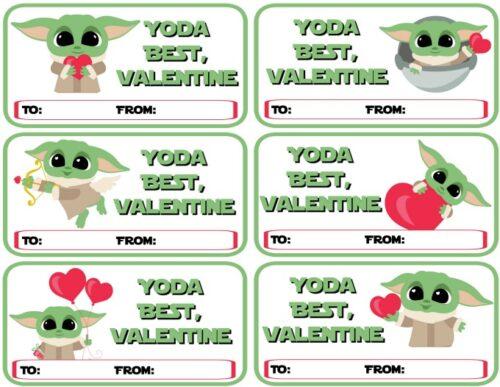 Baby Yoda Printable Valentines - Yoda Best