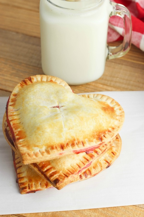 Cherry hand pies stacked